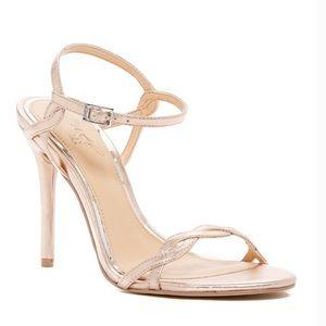 Badgley Mischka Jewel Rose Gold Heels size 8